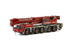 Tadano ATF 220G-5 Scholpp Mobile Crane Red 1/50 Diecast Model WSI Models 51-2023