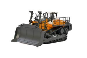 Liebherr PR776 Litronic Crawler Tractor Yellow White Cab WSI Premium Line 1/50 Diecast Model WSI Models 64-2000