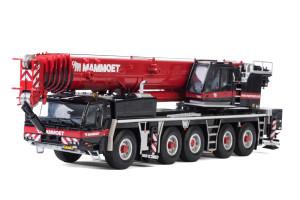 Tadano Faun ATF 220G-5 Mammoet Mobile Crane Black Red 1/50 Diecast Model WSI Models 410225
