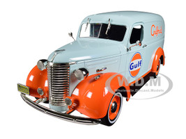 1939 Chevrolet Panel Truck Gulf Oil Gulfpride Light Blue Running on Empty Series 1/24 Diecast Model Car Greenlight 85011