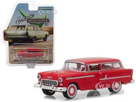 1955 Chevrolet Two-Ten Handyman Gypsy Red Estate Wagons Series 1 1/64 Diecast Model Car Greenlight 29910 B
