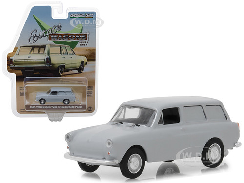 1965 Volkswagen Type 3 Squareback Panel Light Gray Estate Wagons Series 1 1/64 Diecast Model Car Greenlight 29910 C