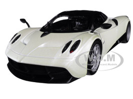 Pagani Huayra Pearl White Black Top 1/24 1/27 Diecast Model Car Welly 24088
