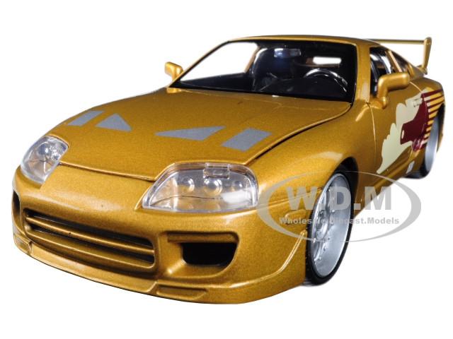 Slap Jack's Toyota Supra Gold Fast Furious Movie 1/24 Diecast Model Car Jada 99540