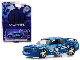 2008 Dodge Charger SRT8 MOPAR Edition Dark Blue Hobby Exclusive 1/64 Diecast Model Car Greenlight 29961