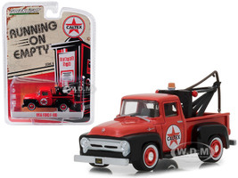 1956 Ford F-100 Tow Truck Red Drop-in Tow Hook Caltex Running Empty Series 6 1/64 Diecast Model Car Greenlight 41060 A