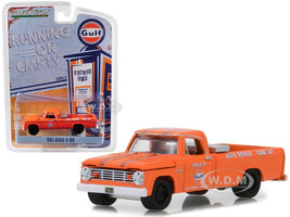 1965 Dodge D-100 Pickup Truck Gulf Auto Repair Tune Up Orange Running on Empty Series 6 1/64 Diecast Model Car Greenlight 41060 B