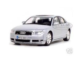2004 Audi A8 Silver 1/18 Diecast Model Car Motormax 73149