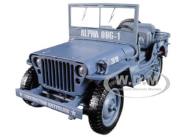 1941 Willys MB Jeep WWII Navy Blue Grey 1/18 Diecast Model Car Autoworld AWML001 B