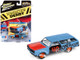 1965 Chevrolet Chevelle Wagon #40 Powder Blue Limited Edition 3700 pieces Worldwide 1/64 Diecast Model Car Johnny Lightning JLCP7118