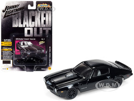 1973 Pontiac Firebird Trans Am Gloss Black Dark Silver Stripe Limited Edition 3700 pieces Worldwide 1/64 Diecast Model Car Johnny Lightning JLCP7121