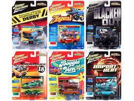 Street Freaks 2018 Release 3 Set A 6 Cars 1/64 Diecast Models Johnny Lightning JLSF009 A