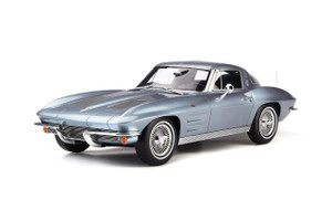 1963 Chevrolet Corvette Silver Blue Metallic Limited Edition 999 pieces Worldwide 1/12 Model Car GT Spirit GT183