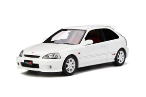 Honda Civic Type R EK9 White Red Interior Limited Edition 1500 pieces Worldwide 1/18 Model Car Otto OT264