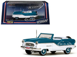 1959 Nash Metropolitan Open Convertible Bluish Green 1/43 Diecast Model Car Vitesse 36253