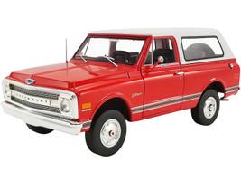 1969 Chevrolet K5 Blazer Orange Red White Top Limited Edition 1452 pieces Worldwide 1/18 Diecast Model Car ACME A1807701