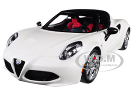 Alfa Romeo 4C Spider Bianco Trofeo White Black Top 1/18 Model Car Autoart 70141
