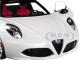 Alfa Romeo 4C Spider Bianco Trofeo White Black Top 1/18 Model Car Autoart 70141