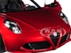 Alfa Romeo 4C Spider Competition Red Black Top 1/18 Model Car Autoart 70142