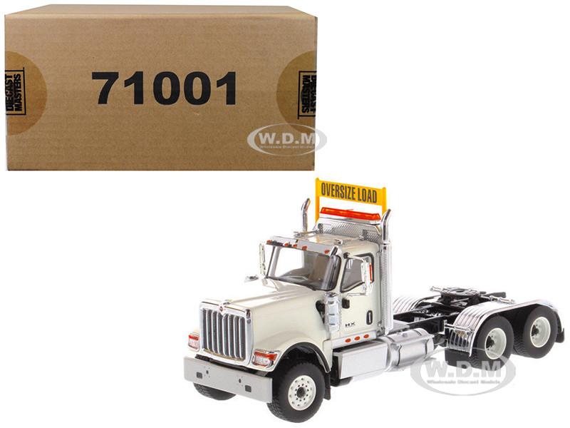 International HX520 Day Cab Tandem Tractor White 1/50 Diecast Model Diecast Masters 71001