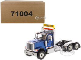 International HX520 Day Cab Tandem Tractor Blue 1/50 Diecast Model Diecast Masters 71004