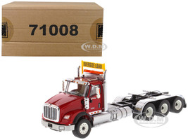 International HX620 Day Cab Tridem Tractor Red 1/50 Diecast Model Diecast Masters 71008
