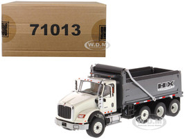 International HX620 Dump White Gun Metal Grey Bed 1/50 Diecast Model Diecast Masters 71013