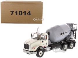 International HX615 Concrete Mixer White Grey Mixer Drum 1/50 Diecast Model Diecast Masters 71014