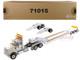 International HX520 Tandem Tractor White XL 120 Lowboy Trailer 1/50 Diecast Model Diecast Masters 71015