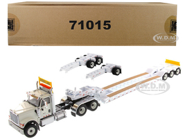 International HX520 Tandem Tractor White XL 120 Lowboy Trailer 1/50 Diecast Model Diecast Masters 71015
