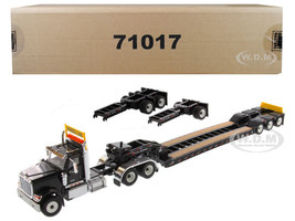 International HX520 Tandem Tractor Black XL 120 Lowboy Trailer 1/50 Diecast Model Diecast Masters 71017