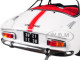 1971 Renault Alpine A110 1600S White Red Stripes 1/18 Diecast Model Car Norev 185303