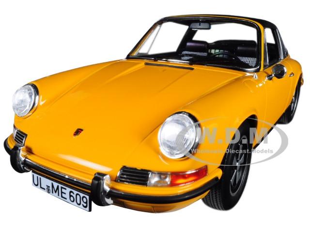1969 Porsche 911 E Targa Orange with Black Top 1/18 Diecast Model Car by  Norev