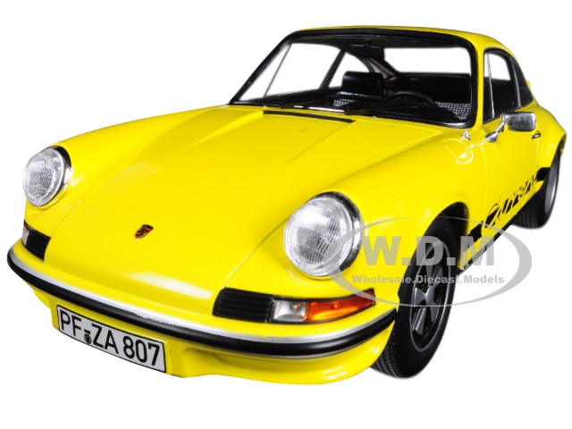 1973 Porsche Carrera 911 RS Touring Yellow with Black Stripes 1/18 Diecast  Model Car by Norev