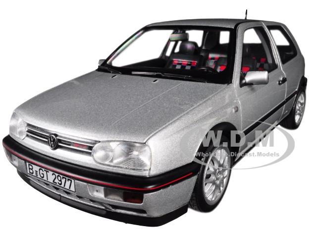 1996 Volkswagen Golf GTI Silver 20th Anniversary Edition 1/18 Diecast Model Car Norev 188419