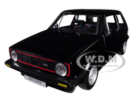 1979 Volkswagen Golf Mk1 GTI Black 1/24 Diecast Model Car Bburago 21089