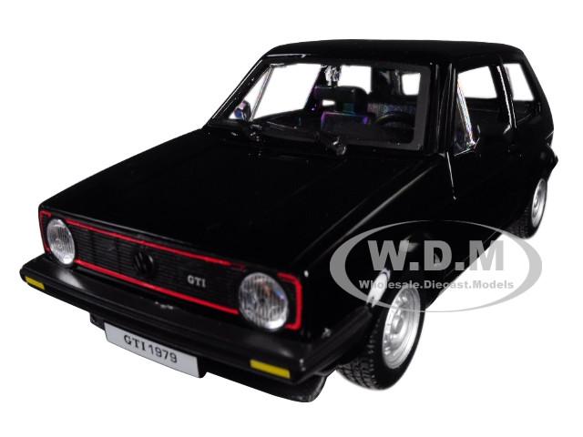 1979 Volkswagen Golf Mk1 GTI Black 1/24 Diecast Model Car Bburago 21089