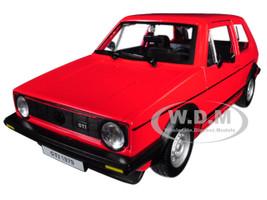 1979 Volkswagen Golf Mk1 GTI Red Black Stripes 1/24 Diecast Model Car Bburago 21089