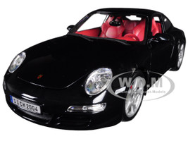 Porsche 911 Carrera S Metallic Bluish Gray Red Interior 1/18 Diecast Model Car Maisto 31692
