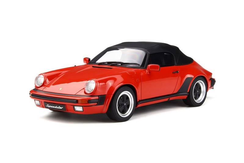 Porsche 911 3.2 Speedster Red Black Roof 1/18 Model Car GT Spirit GT130