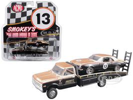 1967 Chevrolet C30 Ramp Truck 1967 Chevrolet Camaro Trans Am #13 Gold Black Smokey Yunick Acme Exclusive 1/64 Diecast Model Cars Greenlight Acme 51164