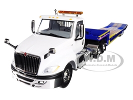 International LT Day Cab Ledwell Hydratail Trailer White Blue 1/34 Diecast Model First Gear 10-4156