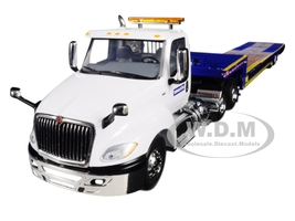 International LT Day Cab Komatsu Ledwell Hydratail Trailer White Blue 1/34 Diecast Model First Gear 10-4156 A