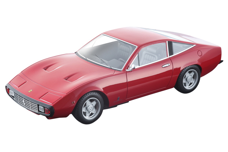 1971 Ferrari 365 GTC/4 Rosso Corsa Red Black Interior Mythos Series Limited Edition 150 pieces Worldwide 1/18 Model Car Tecnomodel TM18-92 A