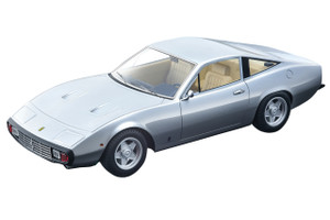 1971 Ferrari 365 GTC/4 Nurburgring Silver Light Cream Interior Mythos Series Limited Edition 80 pieces Worldwide 1/18 Model Car Tecnomodel TM18-92 B