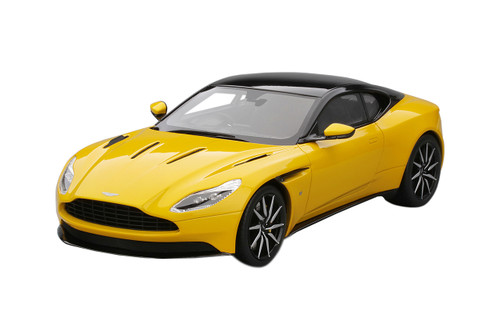 Aston Martin DB11 Sunburst Yellow Black Top Limited Edition 999 pieces Worldwide 1/18 Model Car Top Speed TS0123