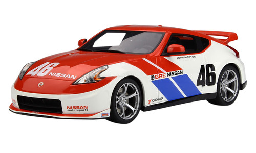 2010 Nissan 370Z Coupe #46 Brock Racing Enterprises BRE 40 Anniversary Edition 1/18 Model Car GT Spirit ACME US013
