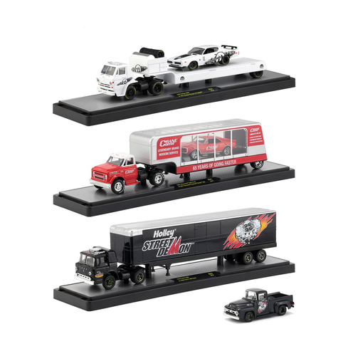 Auto Haulers Release 31 3 Trucks Set 1/64 Diecast Models M2 Machines 36000-31