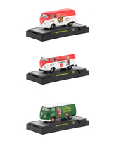Coca Cola Santa Claus Release Set 3 Cars Limited Edition 4800 pieces Worldwide Hobby Exclusive 1/64 Diecast Models M2 Machines 52500-SC01
