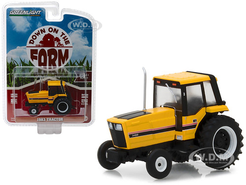 1983 Tractor 3488 Yellow Black Enclosed Cab Down on the Farm Series 1 1/64 Diecast Model Greenlight 48010 F